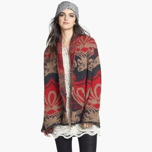 Free People 'Winter's Day' Patterened Cardigan